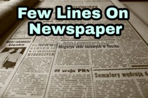 Lines On Newspaper