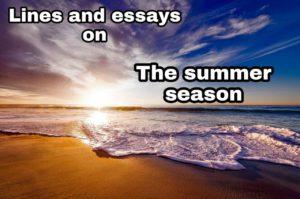 essay and lines on summer season