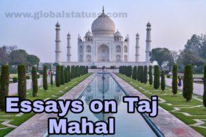 essay in hindi on taj mahal