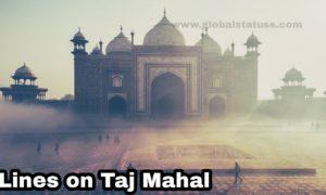 lines in hindi on taj mahal